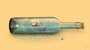 Ship in a bottle by colera77