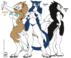 Vallery, Trish, and Goldie_Sergal sisters by wsache007