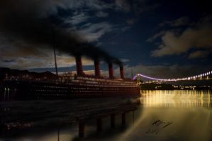 What if titanic visited my hometown? by Admiral-Kevin