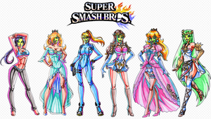 She Masked Beauties of Super Smash Bros Wallpaper by Yoshi9288
