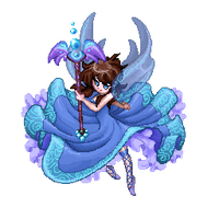 blue pixel fairy by cynthi-dm