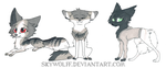 Traditional Chibis by SkyWolff