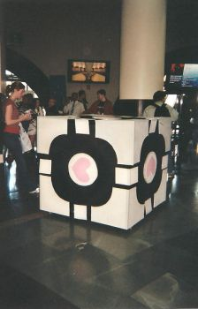 Companion cube by 1woof1