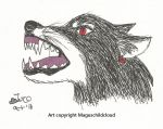 This year's Dark Link wolf by MaguschildCloud