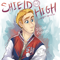 SHIELD High: Steve Rogers by Aibyou
