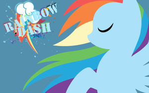 Simple Rainbow Dash Wallpaper by RainbowDash180