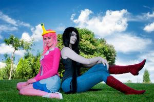 Princess Bubblegum and Marceline by Kinpatsu-Cosplay
