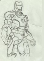 Ironman Sketch by Cowsamboi