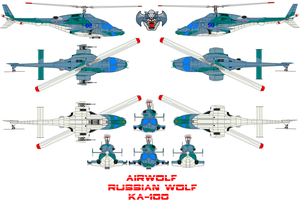 AIRWOLF Russian wolf by bagera3005