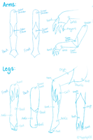 Airdna :  Arms and Legs Tutorial by Kitty-Vamp