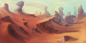 Abandoned Desert Mine Landscape by Appylon