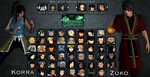 Avatar Fighting Game character select. by Tony-Antwonio