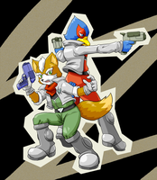 Fox and Falco by ebimaru