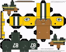 Willie Davis Packers Cubee by etchings13