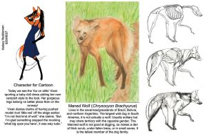 Maned Wolf by kelseyleah
