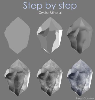 Step by step - Crystal Mineral by SaxonSurokov