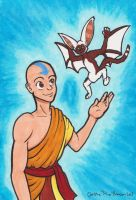 Aang and Momo by StineTheKitty