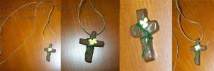 Cross And Vine Necklace by Faith-Bailey