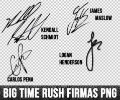 Big Time Rush Firmas Png by LissetteRusher