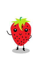 Strawberry-Chan (MS Paint) by StacheRabbit