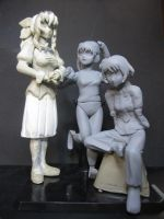 Katawa Shoujo girls: Rin, Emi, Lilly WIP by edsa-m