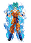Goku super saiyan blue by BardockSonic