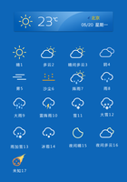 Weather widget by bingxueling