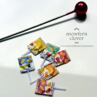 1:12 scale dollhouse miniature lollipops by Snowfern