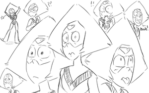 Peridot Warm-up doodles by AccursedAsche