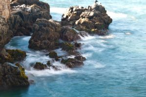 waves in the coast by Tereineus