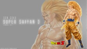 real Goku Super Saiyan 3 Desktop Wallpaper by leemarej