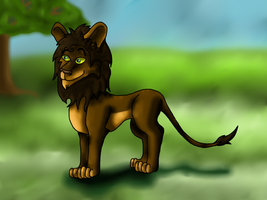 Contest Entry: Male Lion by puddathere