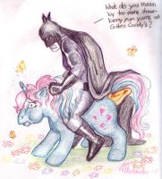 Batman on a Pony by MiniBaah
