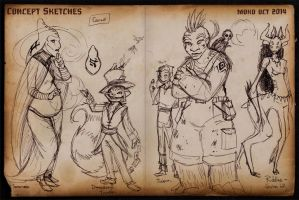 2014 OCT Concept Sketches 2 by RobinRone