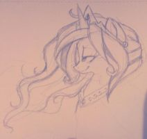 Princess Celestia Sketch by HoneyxMonster