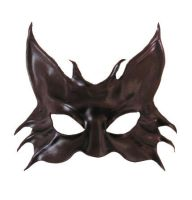Black Cat Leather Mask 2 by teonova