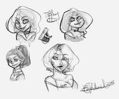 Tiffany sketches! by CharlotteRay