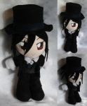 Mini Plushie, Sebastian Michaelis as Black by ThePlushieLady