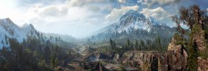 The Witcher 3 panorama Skellige by Scratcherpen