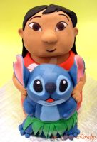 Lilo and Stitch Cake by ginas-cakes