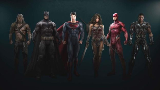 Justice League film concept art by Artlover67