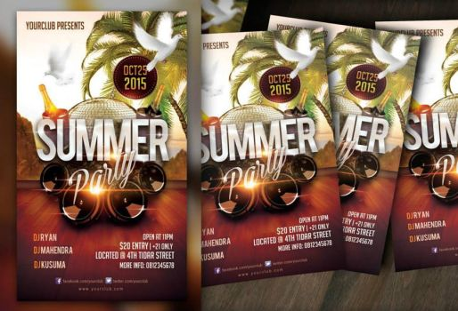 Summer Party Flyer by ryan-mahendra