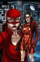 Woman In Red cover colored by jayodjick