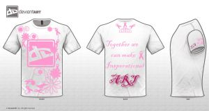 DA Logo T-Shirt Breast Cancer by ryuzaki7