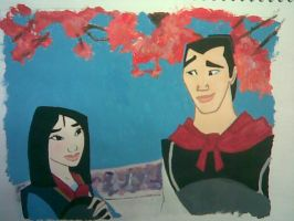 Mulan and Shang, dinner? by whack916