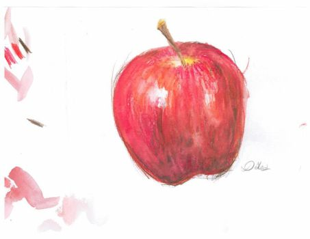 Red Apple by CatLadyD