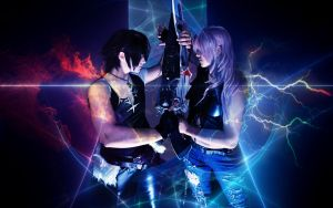 SQUALL x LIGHTNING - Cosplay - Dissidia by Shinkan-Seto