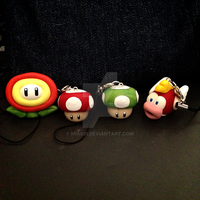 Kawaii Super Mario Polymer Clay Charms by mia831