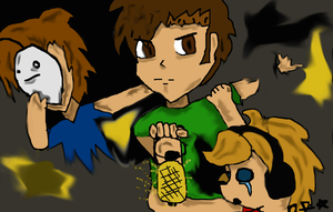 Tobuscus, Pewdiepie and Chaoticmonki by P0k3monW0lf
