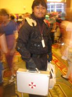 Anime Vegas Resident Evil HUNK by Demon-Lord-Cosplay